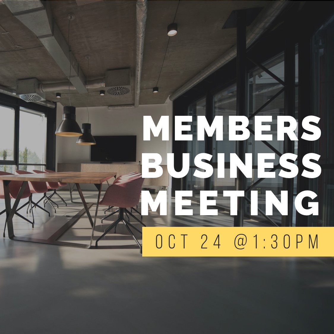 """Featured image for """"Members Business Meeting"""""""